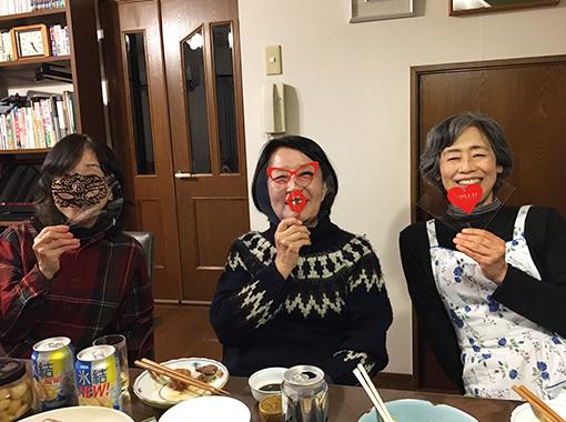 家庭内での飛沫感染対策例